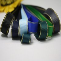 Wholesale Bow Headband Ribbon Fashion Candy Color Gold Edge DIY Headbands Ribbon Multi Color Y mm Webbing