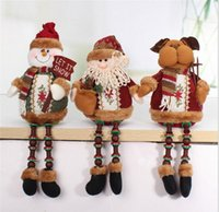 best christmas ornament - Hot Sale Santa Claus Snow Man Reindeer Doll Christmas Decoration Xmas Tree Hanging Ornaments Pendant Best Gift HJIA696