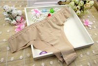 Wholesale 2016 Sale Promotion Invisible Underwear Thong Panties Nylon Spandex Gas Seamless Crotch Thong Ice Women A Female T Pants Ladies
