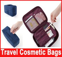 Wholesale Storage Cosmetic Bag Makeup Bag Purse MP3 Mp4 Phone Travel Insert Handbag Organizer fashion bag in bag Sundry Zipper Bag Hot