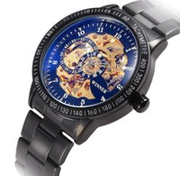 alloy winner - Winner New Luxury Brand Mens Watches Automatic Mechanical Watches High Quality Stainless Steel Strap