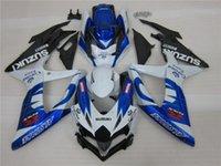 Wholesale 3gifts New Fitment ABS Fairing Kits For SUZUKI GSX R600 GSX R750 GSXR600 GSXR750 GSX R600 R750 K8 blue corona