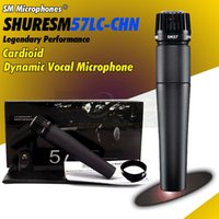 Wholesale High Quality SM57LC Unidirectional Cardioid Legendary Dynamic Vocal Wired Microphone SM LC Handheld Karaoke Mic Mike