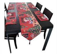 Wholesale Halloween Holidays Pumpkin Embroidered Table Cloth Christmas Table Runner Flag Tablecloth New Year x180cm TOP1399
