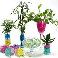 beads pot - Colorful Crystal Plant Soil Beads Floor Mounted Floral Decorative Beads for Flower Plants Water Becomes Large Potting Plants