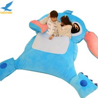 Wholesale Fancytrader Portable Lilo Stitch Sleeping Bag Bed Sofa Beanbag Sleeper with Padding Novelty Furniture Kids Play Mats Models Gift