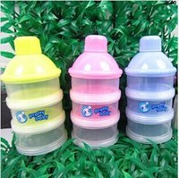 Wholesale Pc Three layer Letter Baby Food Storage baby powder milk box