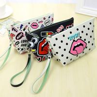 Wholesale Multifunction Women Girl Cute Travel Organizer Handbag Purse Lady Makeup Cartoon Cosmetic Bag Travelling Bag