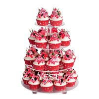 acrylic cupcake tree - 4 Tier Clear Round Wedding Party Acrylic Cupcake Display Tree Tower Stand Tier Circular Acrylic Cupcake Stand Decoration