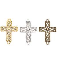 Wholesale 20pcs New Fashion Antique Silver Golden Bronze Zinc Alloy Cross Connectors For DIY Jewelry Making