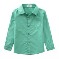 Wholesale Children Kids Blouse New listing Children boy shirt cotton natural cotton shirt Kids