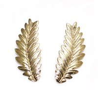 big leaf plants - Big gold leaf earrings HOT Selling Beautiful statement leaf earrings for women gift Vintage jewelry