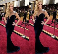 academy awards dresses - Nacy O Dell Navy Blue Evening Dresses th Academy Awards Oscar Red Carpet Celebrity Dresses Mermaid Party Dresses HY1004