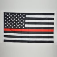 b w cm - USA B W Flag Thin Red Line Stripes American Flags grommets Firefighter Flags Black White Red Flags