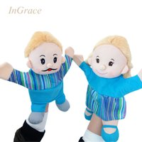 bedtime stories for kids - InGrace lifelike family member hand puppets daddy mummy glove puppets for kids night bedtime story tool play games