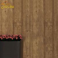 anti static pvc flooring - Vintage Chinese Style Imitation Wood Flooring Pattern Wallpaper PVC Deep Embossed Bedroom Living Room Restaurant Sofa Wallpaper