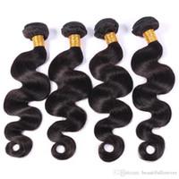 Wholesale Brazilian hair bundles Body Wave Peruvian Malaysian Brazilian Hair Weave A A Unprocessed Virgin Human Hair Extension Natural Color