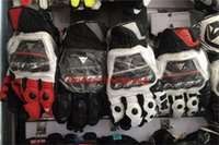 Wholesale 2014 models France DAINESE top racing gloves motorcycle gloves leather gloves with carbon fiber black white size M L XL