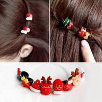 mini hat hair clip - New Hot Mini Christmas Snow Man Women Hair Clips Korean Christmas Hats Party Supplies