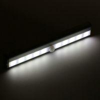 Wholesale 10 LED Wireless PIR Auto Motion Sensor Light Intelligent Portable infrared Induction Lamp Night Lights for Cabinet Hotel Closet