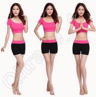 Wholesale 300set LJJC3706 High Quality Candy Color Women Summer Modal Fitness Yoga Suit Short Pants Vest Modal Yoga Pants Dancing Tai Ji Pants Sets