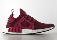 Wholesale New Originals NMD XR1 Primeknit Wine Red Mens Womens nmd Sneakers Running Shoes Boost Size