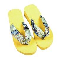 Wholesale excellent quality HOT Casual Bohemia Women Sandal Platform Wedges Beach Flip Flops Home Slippers