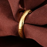 Wholesale LSL Jewelry New Arrival Fashion Male Jewelry K Gold Plated Accessories Classic Frosted Great Wall Pattern Design Man Trendy Ring SKJ040