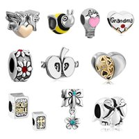 bible music - of Mixed Charms European Beads Holy Bible Flower Love Bulb Apple Heart Love Peace Dove Bead Fit Pandora Charm Bracelet