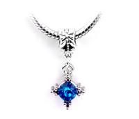 Wholesale Hot Silver Plated Bead Lovely Star Pendant Rhiestone Crystal Bead Fit Pandora Bracelets Bangles