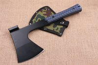 axe blades - 2016 New Arrival AXE C HRC Black Blade G10 Handle Outdoor Camping Hiking Hunting Survival Equipment Ourdoor Survival Gear