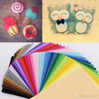 Wholesale 43 colors CMX20CM Felt Fabric Polyester Non woven Felt MM Thick Fabric DIY Felt Crafts Cloth Feutrine Fieltro Feltro H210503