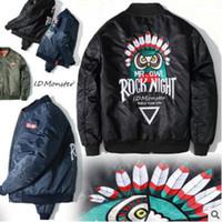 bat motorcycles - 2016 Fashion Hi Street SUP Jacket printing eagle embroidery hip hop Black Mens Fit Hip Hop Varsity Baseball Motorcycle plus size XL