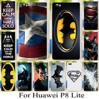american lite - not for p8 for Huawei Ascend P8 Lite quot Captain American hard cover case batman superman pattern skin shell phone case