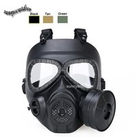 air filtration mask - Airsoft Paintball Shooting Face Protection Gear Full Face Tactical PC Lens Paintball Mask with Air Filtration Fan
