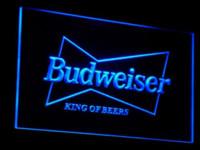 Wholesale a009 Budweiser King Beer Bar Pub Club LED Neon Light Sign Cheap light box sign