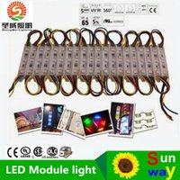 RGB LED Pixel Módulos impermeables 12V SMD 5050 3 LED 0.72W 80lm Módulos de LED de la muestra retroiluminación LED para las letras de canal ..