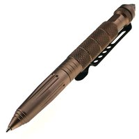 Wholesale DHL free Portable Survival Aircraft Aluminum Defender Tactical Pen with Glassbreaker Writing Self Defense