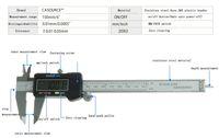 Wholesale standard mm inch box pack retractabe Micrometer precision measure Digital Electronic LCD Plastic vernier caliper portable Gauge Ruler