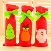 bar table cloths - Christmas Wine Bottle Cover Bag Santa Claus Tree Deer Wine Covers Home Bar Table Dinner New Year Party Christmas Decorations