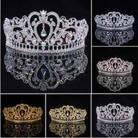 ab alloy hair - 2016 New Arrival Luxuious AB Color Crystal Bridal Tiaras Fashion Princess Crown Silver Wedding Crowns Hair Accessories