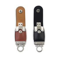 Wholesale Leather USB Disk Memory Flash Drives USB Real GB GB GB GB Brown Black Color USB Disks Memory