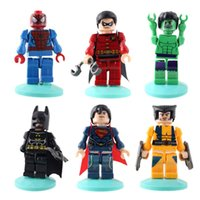 age animation - 6X MINI Marvel The Avengers Hulk Super Hero Robin Hood Figure Collection Kids Animation Toys Gift DIY