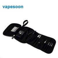batteries case tools - Double deck Vape Pocket Vapor case Tool Kit Bag vapesoon hand caught vape bag for tanks Mods battery coils DIY Tools Carry Bag