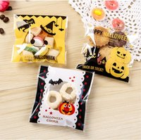bakery food supplies - 500Piece CM Plastic Candy Cookie Packing bag HALLOWEEN Cookie Pastry Bakery Packaging Food Bag Disposable Baking Supplies