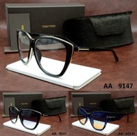 big blue butterflies - 2016 TOM brand Designer Big Size women vintage FORD sunglasses binding dita eyewear ver Oculos Clear Lens CAZAL Carrer crocodile glasses