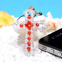 apple cross pendant - Manual Weave Pendant Mobile Phone Chain Package Hanging Drop Colour Customized MM The Tip Of The Pearl River Will Cross