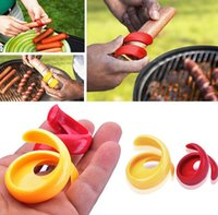 Wholesale High Quality PC Spiral Hot Dog Cutter Slicer Fancy Sausage Cutter Slice Your Wiener Kitchen