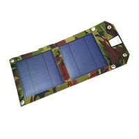 Wholesale 5W A Solar Charing Pack Foldable Solar Charger With USB for iPhone Samsung HTC Pad Android phones