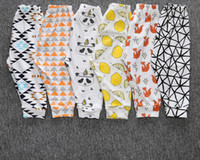Wholesale 11 STYLE Pomotion now Retail Baby Girls Boys Pants Cotton Harem Pants Cartoon Geometry Printed Pants Toddler Children Clothes Trousers